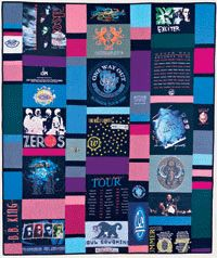 T-Shirt Quilt - I like that this is different than traditional t-shirt quilts you see.