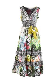 Orientique Crossover Dress - Womens Calf Length Dresses at Birdsnest Online