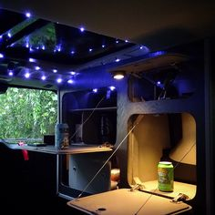 Honda Element camper conversion, Fifth Element Camping, eno twilight lights