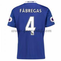 maillot de foot Premier League Chelsea 2016-17 Fabregas 4 maillot domicile