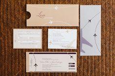 Pretty invitation ensemble for Miami wedding - photos by Becca Borge | junebugweddings.com