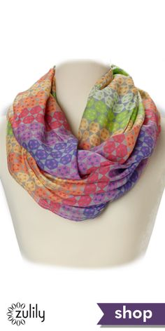 Infinity scarves and more women's accessories on zulily now! Click to see more!