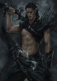 Dark Elf Warrior - Concept 3 by *Arsinoes on deviantART