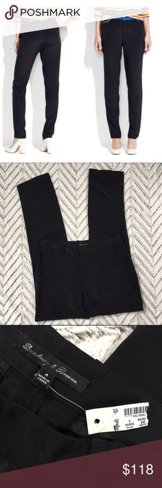 """Madewell Silk Trouser Pants Black size 4 Madewell silk Trouser Pants black size 4. New with (torn) tag! Approx. Measurements: 15.5"""" across waist, 19"""" across hips, 9.5"""" rise, 31.5"""" inseam. Trouser styling. 100% silk. Label marked through by manufacturer to prevent returns. 🎀Search my closet for your size 🎀BUNDLE and SAVE! 🎀REASONABLE offers WELCOME 🎀NO TRADES NO HOLDS 🎀Thank you for stopping by!❤️ Madewell Pants Trousers"""