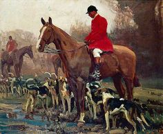 The Huntsman and Hounds by Alfred james Munnings