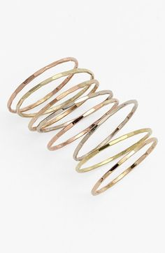 Melissa Joy Manning Stackable Rings (Set of 8) | Nordstrom