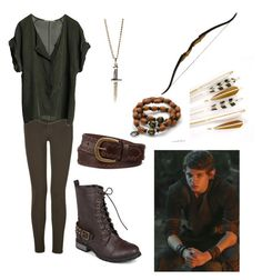 """""""Pans Girl OUAT Peter Pan"""" by alycat28 ❤ liked on Polyvore featuring Mixit, J Brand, Graumann, Journee Collection and Erica Anenberg"""