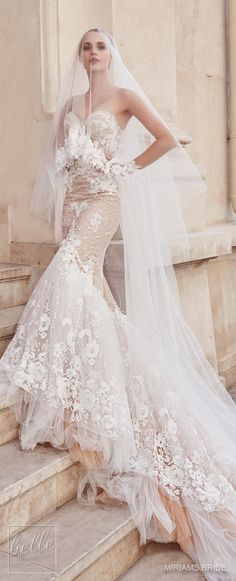 Wedding Dress by Miriams Bride 2018 Collection #WeddingDress #WeddingGown #wedding #bridal #weddings
