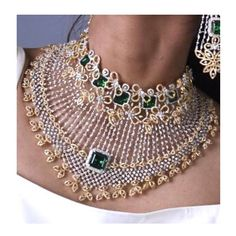 Wedding Jewellery Designs, Wedding Jewelry, Jewelry Design, Neck Choker, Gold Choker, Neck Piece, Trendy Jewelry, Bridal Sets, Necklace Designs