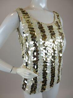 51bc7f4550d3f 224 Best Ivory white vintage sequin tops images