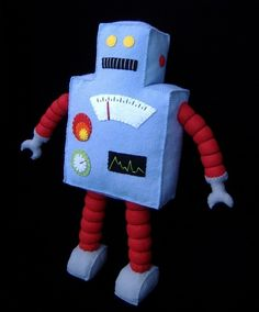 Retro Robot Plushie DIY Felt Doll PDF di GulfCoastCottagePDF