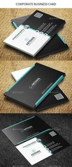 Buy Corporate Business Card by Dkgray on GraphicRiver. Clean business card made for companies or personal use. Plastic Business Cards, Cleaning Business Cards, Modern Business Cards, Corporate Business, Corporate Design, Business Card Design, Creative Business, Business Card Templates, Cv Web