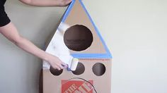 How To Make A Cardboard Rocket Ship For Your Cat Using Old Boxes | Cuteness Buzz Lightyear Wings, Cardboard Rocket, Cat Naps, Cat Hammock, Space Party, Old Boxes, Cozy Nook, Crafts For Kids, Kitty