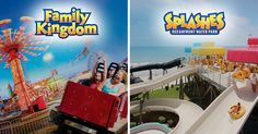For oodles of fun in Myrtle Beach, visit Family Kingdom Amusement Park with 38 exciting rides and Splashes Oceanfront Water Park. Myrtle Beach Water Park, Myrtle Beach Hotels, Myrtle Beach South Carolina, Myrtle Beach Vacation, Beach Resorts, Inclusive Resorts, Beach Trip, Splash Water Park, Mrytle Beach