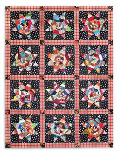 """Pattern by Gwen Marston in her book, """"Liberated String Quilts"""""""