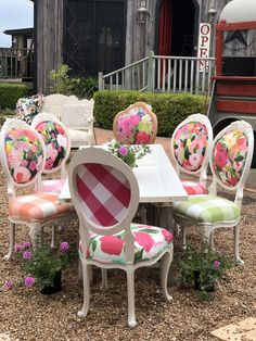 How 2 Artists Collaborated to Create a Fab Product - Chair Whimsy Decor, My French Country Home, French Country House, Painted Furniture, Country Decor, Chair, Home Decor, House Interior, Table Decorations