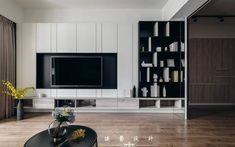 Tv Console Design, Tv Cabinet Design, Tv Wall Design, Tv Unit Design, Living Room Tv, Living Room Modern, Interior Design Living Room, Living Room Designs, Modern Tv Wall Units