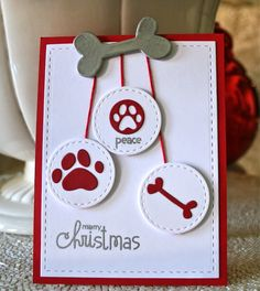 Marybeth's time for paper: Paw Prints Christmas