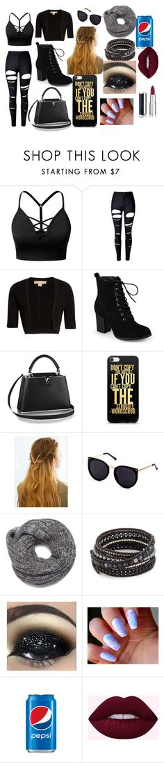 """pepsi"" by maddielion2 ❤ liked on Polyvore featuring beauty, J.TOMSON, WithChic, Michael Kors, Journee Collection, Nine West, Chan Luu, Givenchy and Pepsi"
