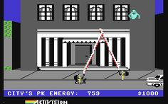 The original Ghostbusters game on the Commodore 64.  This was the first, and last, movie-based game I actually enjoyed playing.