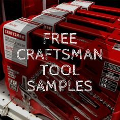 Sign up to get your free Craftsman tool sample delivered to your door for absolutely no charge (not even shipping)! Just take our easy consumer survey to qualify. #diy #homeimprovement