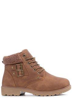 d6f27f38bdd15 Seventyseven Lifestyle Damen Schuh Stiefelette Worker Boots Kunstleder  camel braun - 77onlineshop Bootie Boots