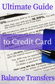 The Ultimate Guide to Credit Card Balance Transfers www.