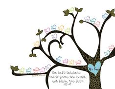 Teacher Tree 8x10 print $20 ~ Great end-of-the-year gift...teacher's name on the tree, students' names in the birds!
