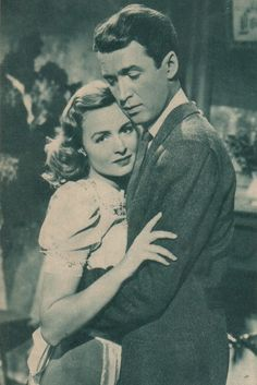 It's a wonderful life- Jimmy Stewart and Donna Reed. 'And dance by the light of the mooooooonnn. Old Movie Stars, Classic Movie Stars, Classic Movies, Vintage Hollywood, Classic Hollywood, Donna Reed, Christmas Movies, Christmas Scenes, Film Serie