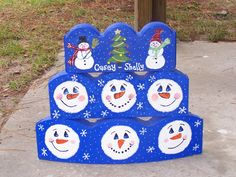 Best Ideas about Painted Bricks Snowman Decorations, Snowman Crafts, Christmas Projects, Holiday Crafts, Christmas Decorations, Holiday Ideas, Christmas Ideas, Christmas Rock, Christmas Snowman
