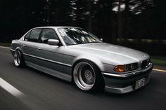 BMW E38 Silver