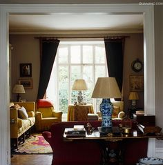 sitting room of Lord Snowdon