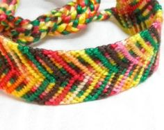 SPRING SALE!!! Free Shipping or Save 20% ~ Jelly Beans knotted cotton friendship bracelet -- Ready to Ship