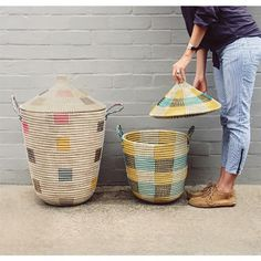 I love these woven baskets!
