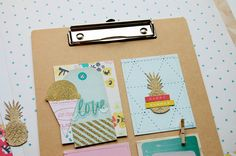 Summer clipboard - Crate Paper - Poolside collection - By Laeti