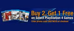 Amazon Buy 2, Get 1 Free Sony PS4 Games Deal starts Tuesday
