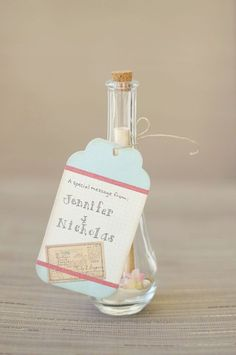 message in bottle invite #weddinginvitation Don't forget beach themed personalized napkins for the big day! #beach www.napkinspersonalized.com
