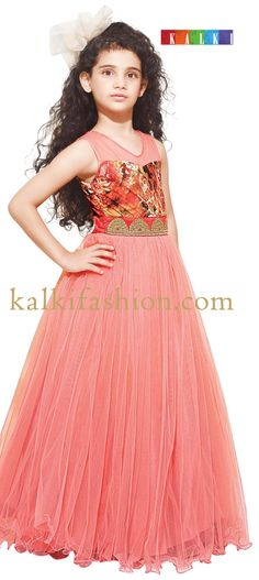 Buy it now  http://www.kalkifashion.com/digital-print-gown-with-embroidered-lace.html Digital print gown with embroidered lace