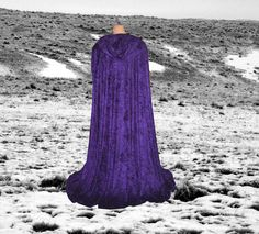 I Really Want A Hooded Robe Like This One That I Can Wear Every Day.   Purple Panne Velvet Hooded Cloak Cape Renaissance Wedding Costume Medieval Once Upon A Time. $79.00, via Etsy.