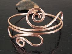 Hammered Copper Upper Arm Cuff Armband Armlet Arm by BonzerBeads, $24.00