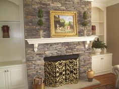 stone fireplace idea