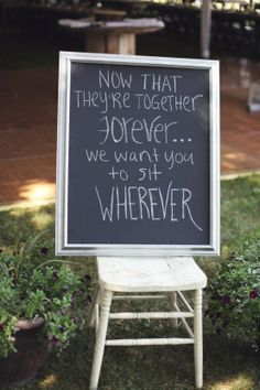 something similar to this sign for the reception