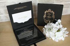 100 set of Acrylic invitation with black hardbox