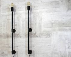 Pipe candle wall lamp Urban sconce Steampunk Lamp