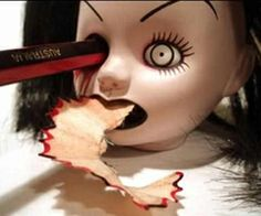 Sharpen Your Pencil Doll Head