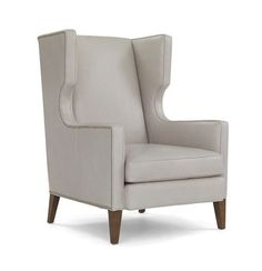 ROMAN WING CHAIR LEATHER<BR>[available online and in stores]