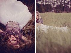 Gypsy bridal style {love this crop}