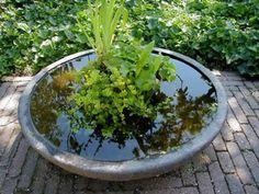 water in de tuin zonder een vijver
