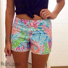 Lilly Pulitzer Lets Cha Cha Pom Pom Shorts I Made!