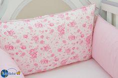 Crib Bedding - Flowers & Light Pink